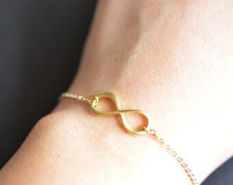 30% 0FF, Infinity bracelet, Gift, Anniversary gift, wedding jewelry, bridesmaid gift, gold bracelet, silver bracelet, dainty bracelet