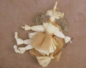 Halloween Witch Doll Corn Husk Home Halloween Decor OOAK HAGUILD primitive Kitchen witch