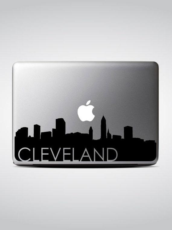 Cleveland Skyline Macbook Decal #3 / Macbook Sticker / Laptop Decal