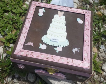Wooden Wedding Memory Box Pick Cottage Small trinket box