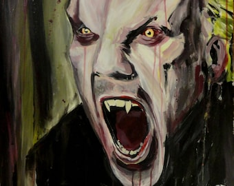 """The Lost Boys - David (Keifer Sutherland) - Art Print Reproduction 11"""" x 12"""" - signed by Artist"""