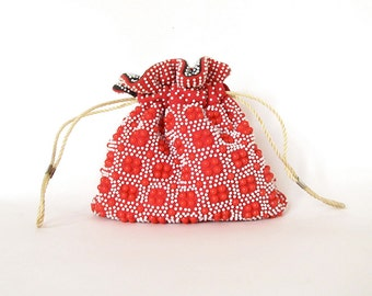 Vintage Reversible Candy Dot Purse