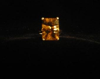 Bold whiskey quartz ring