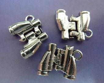 3 pendants, binoculars, hunting, Oktoberfest, bavarian, antique silver