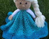 Crochet security blanket lovey- princess doll FREE US SHIPPING