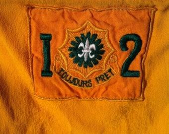 Toujours Pret 2nd Calvary Regiment arm bands, epaulettes