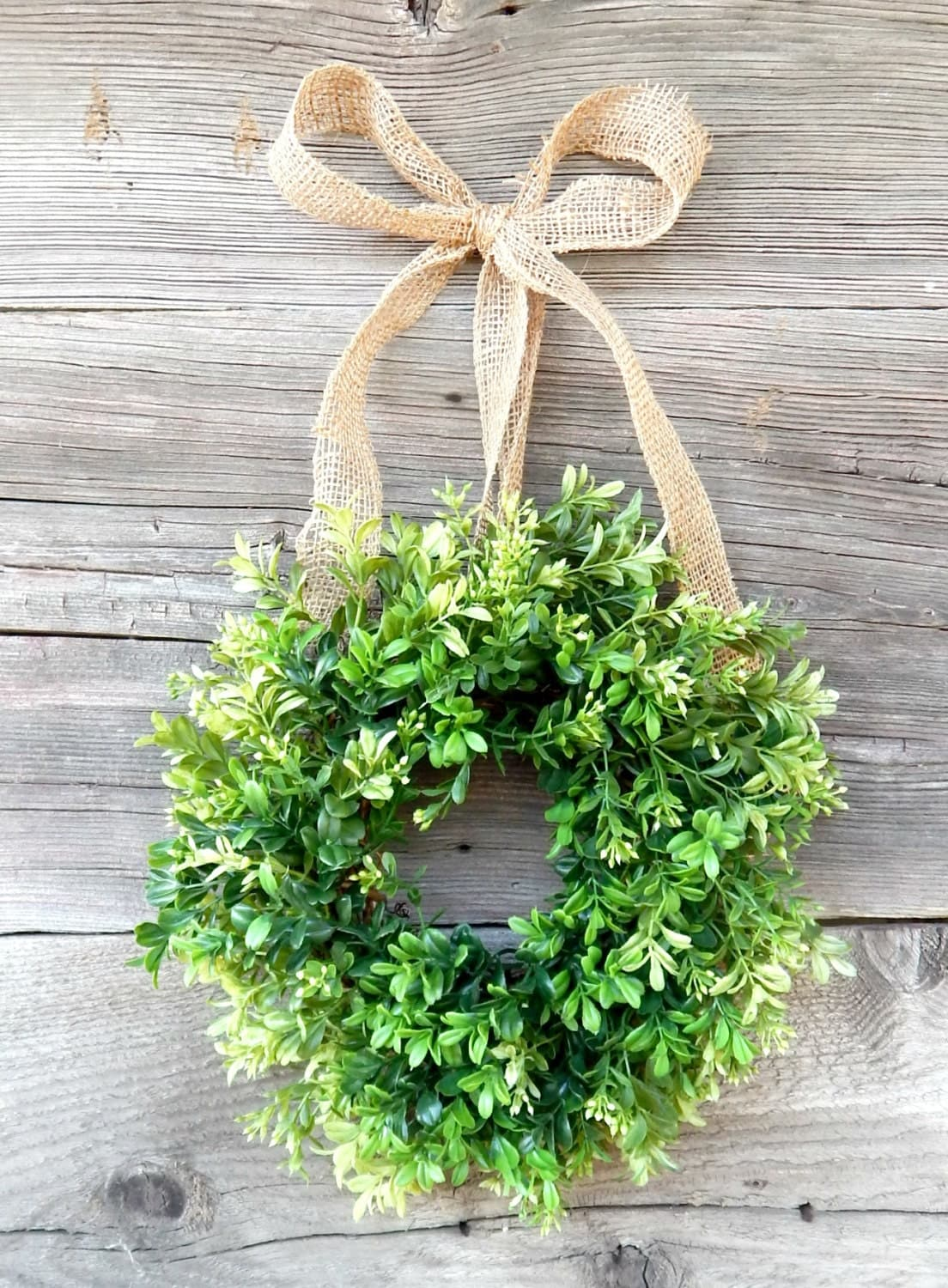 Mini Boxwood Wreath Mini Wreath Scented Window Wreath Country
