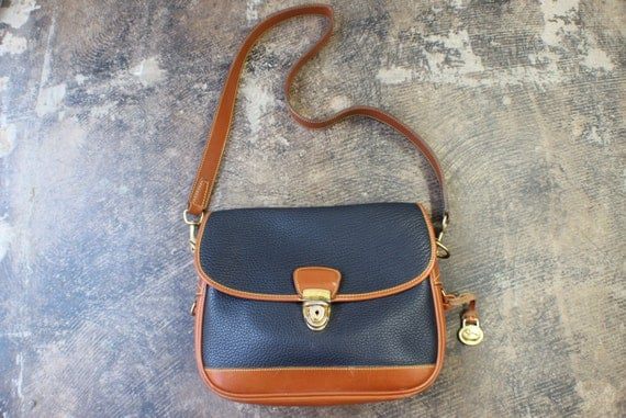 Vintage Dooney & Bourke Purse / All Weather Leather Equestrian Handbag