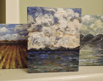Teeny Tiny Little Painting is a OOAK Abstract Landscape