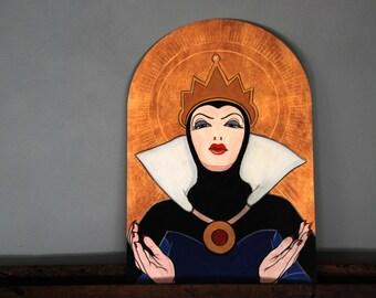 Saint Grimilde 35x55 cm modern icon art print limited edition(reproduction of original painting acrilic and goldenleaf on panel)