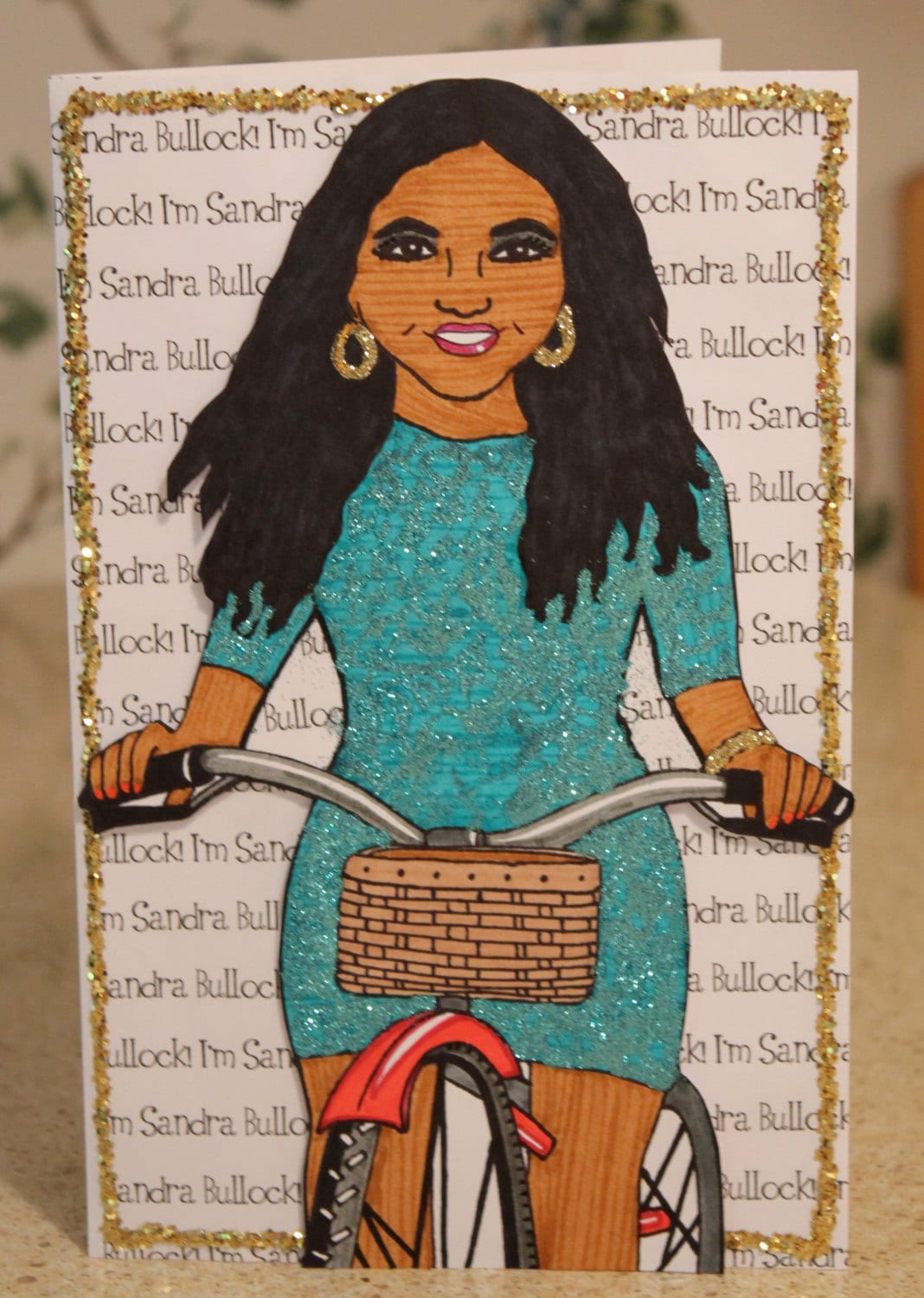 Mindy Project Birthday Glittery Mindy Project Card