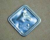 Vintage 1958 Soviet Latvian aluminum pendant,dog tag.