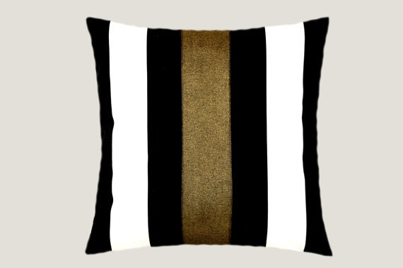 Black Decorative Pillow Cases : Decorative Pillow Case Cotton Black-White Throw pillow case