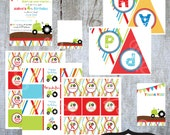 TRACTOR Birthday Party Collection- printable party by Luv Bug Design