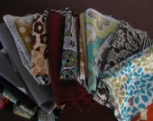 75 Fabric scraps pieces for quilting sewing doll clothes bows atr mixed media crafts PROJECTS