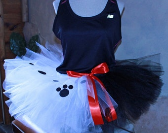Adult Running Marathon Cruella De Vil Villain Inspired from Disney Movie 101 Dalmations Tutu Skirt Dress Birthday Party Costume Fun Run