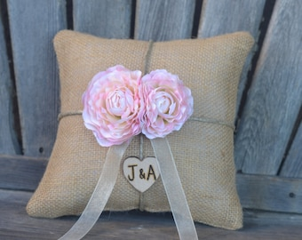 Burlap Ring bearer pillow You personalize it 10% discount promo code SPRING entire shop