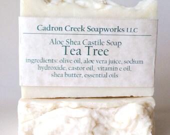 Aloe Shea Tea Tree Soap Castile
