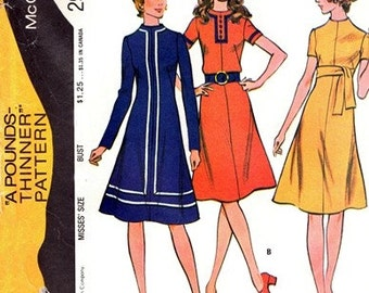 1971 Sewing Pattern McCall's 2975 Misses dress