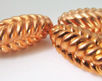 6 Vintage 30mm Pinecone Beads Bd1071