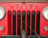Vintage Grill of an Old Willys Jeep  8x10