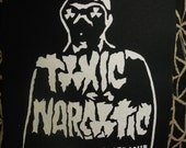 toxic narcotic gas mask sew on back patch