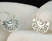 Bird Dangle / Hook Earrings - Solid Sterling Silver