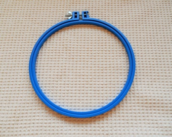 """Embroidery Hoop Large Circle 8"""" inch Blue Plastic Craft Supplies"""