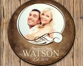 Personalized Family Name Sign, Family Established Sign with Photograph, Last Name Sign with Established Date, 3 sizes