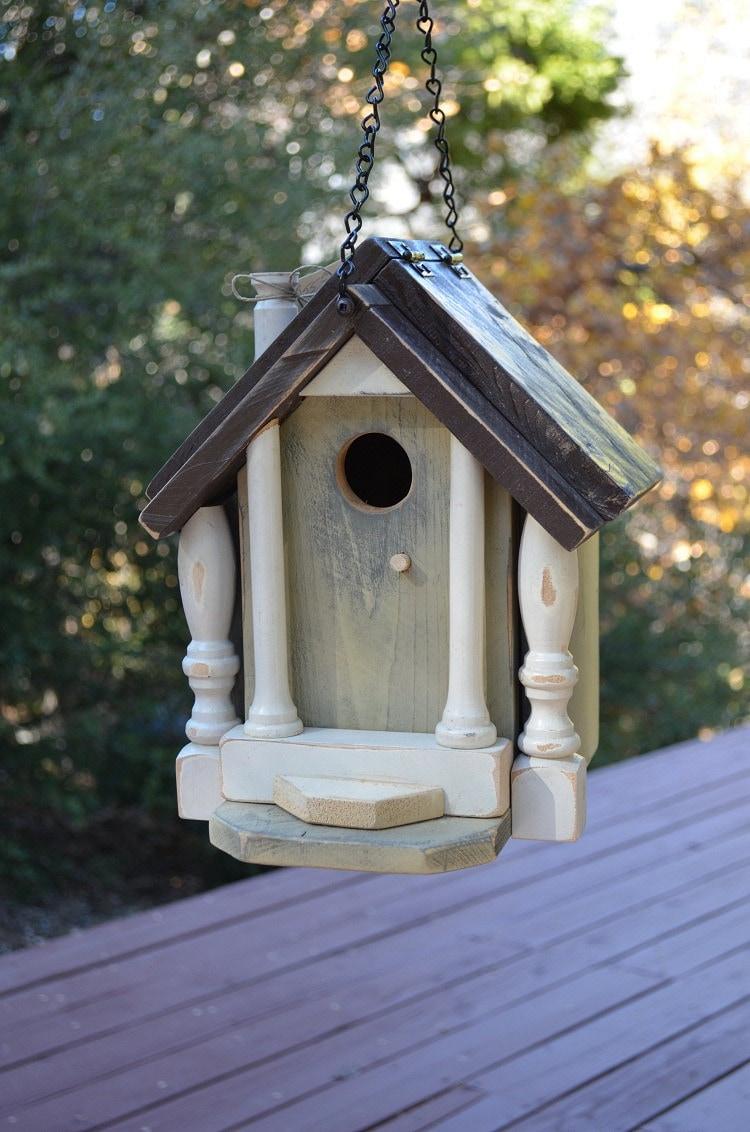 Birdhouse Rustic Handmade Recycled Shabby Chic Folk Decorative