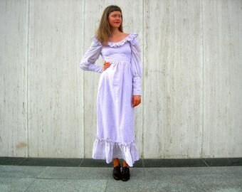 Vintage dress purple prairie