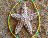 Yellow and Green Beaded Anklet