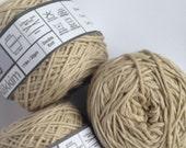 Cotton yarn, hand dyed yarn, dunes, desert sand, double knit DK.