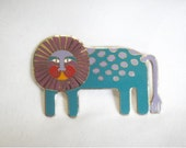 Laurel Burch LEONARDO Brooch Pin - Retired Design and Discontinued Jewelry Line - Collectible - Vintage