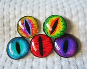Glass eyes for jewelry making and crafts 25mm cabochons