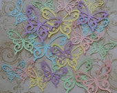 20 pc Total Different Size Shapes Scroll Butterfly / Butterflies Die Cut pieces Made from Pastel colors cardstock paper