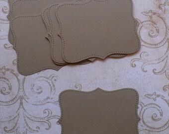 10 Cardstock Stampin Up Top Note Kraft Cardstock for DIY Crafts Cards Rustic Wedding Labels Place Cards etc.