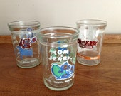 Retro Jelly Jar Glasses Welchs Jelly Tom and Jerry Glasses