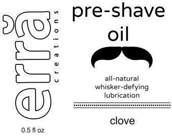Men's Pre-Shaving Oil - Glass Dropper 0.5 fl oz - Handcrafted in Pittsburgh Shaving Oil