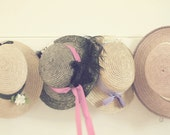 Straw Hats, Lavender Decor, Pink Decor, Purple Decor, Room Decor, Gift For Her, Gift For Mom, Shabby Chic Art, Fine Art Print,Home Art Decor
