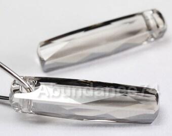 2 pcs SWAROVSKI Elements 6460 Column Tube Pendant Crystal 20mm SILVER SHADE