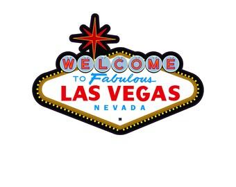 """Fabulous Las Vegas Die Cut 6"""" Wide Sticker Decal"""