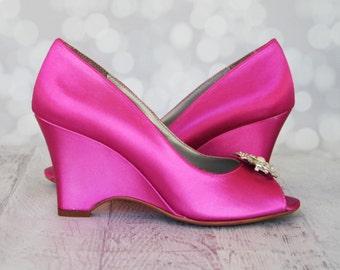 Hot pink heels | Etsy