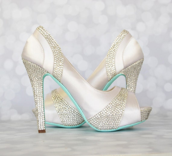 Christian louboutin blue sole wedding shoes