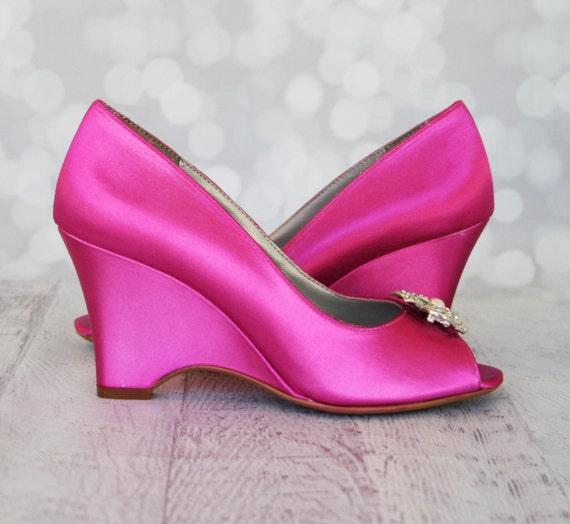 Fuschia Low Heel Wedding Shoes: Wedding Shoes Fuchsia Pink Wedding Shoes Hot Pink Wedding