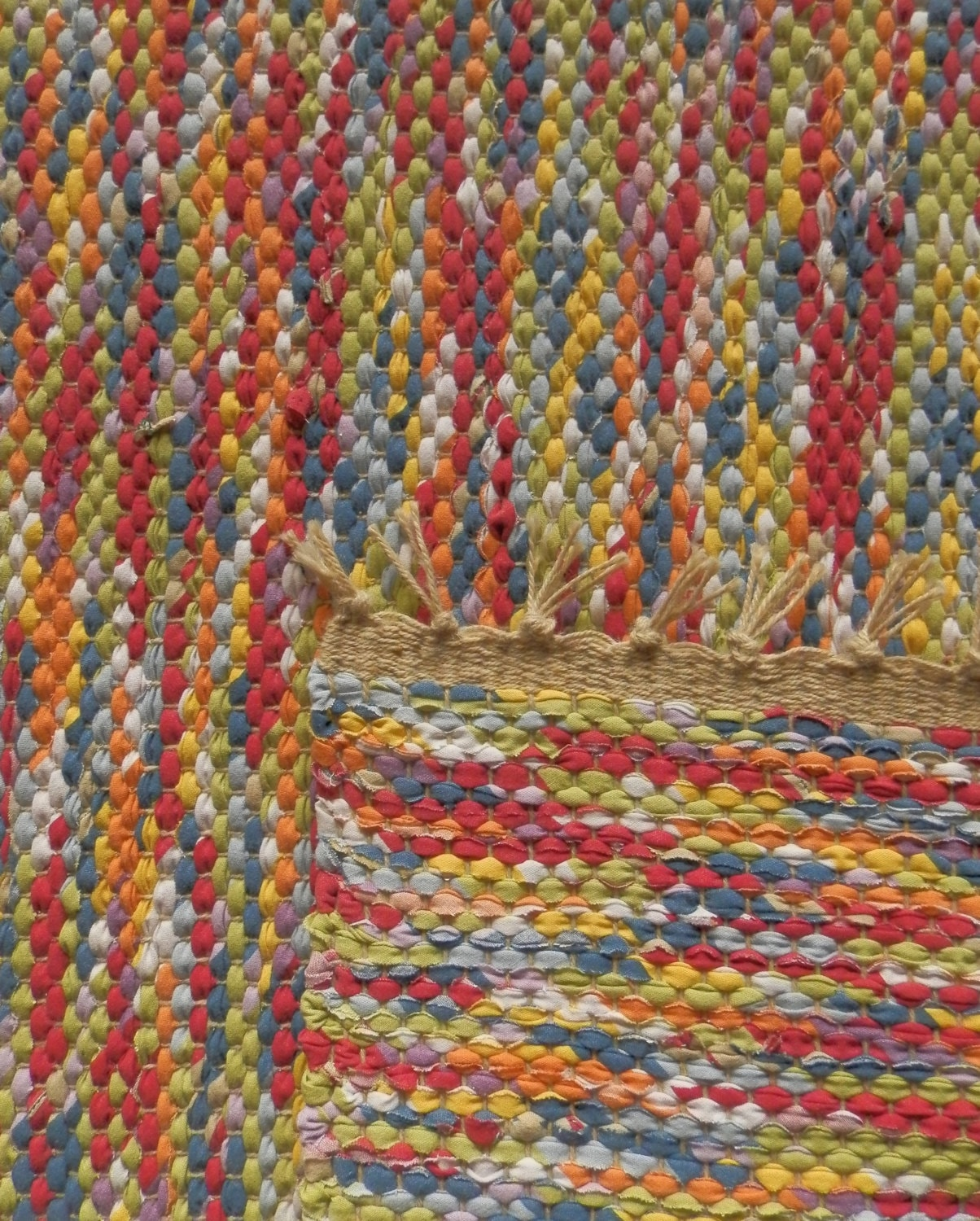 Made To Order Rag Rug Your Choice Mixed Fabric Custom Rug