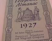 Bell System 1927 TELEPHONE ALMANAC American Telephone Telegraph Co Information & Advertising