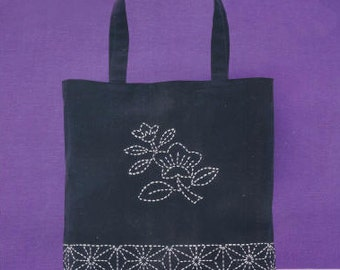 Sashiko Tote Kit Japanese Traditional Stitching/Quilting from JAPAN