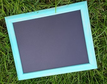 Aqua-  Chalkboard frame -Photo prop- Ready to ship