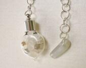 Moonstone Dowsing Pendulum - Cancer Power Stone, Enhances Intuition, Brings Good Fortune, 3rd Eye/Crown Chakra